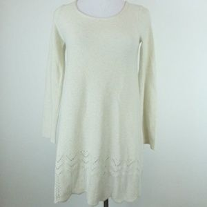 DKNY PURE CASHMERE TUNIC CROCHET SWEATER Dress S